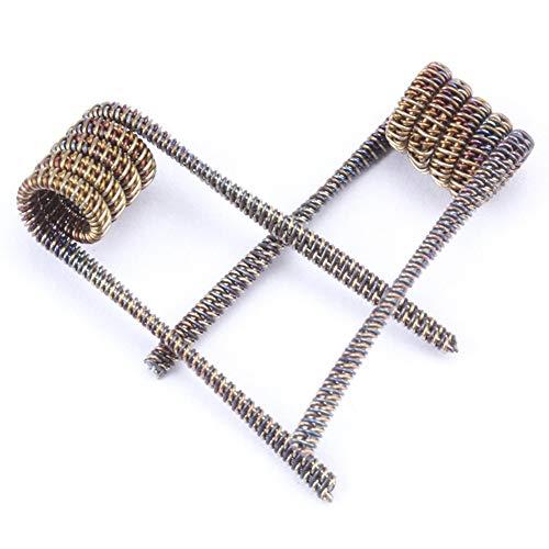 Yeleo Trosetry Coil, Vape Draht SS316 Alien Fused Clapton Wire Coils für Elektrische Zigaretten RDA RBA RTA RDTA Coil Draht Rebuildable E Zigarette Draht 6 Stück(H02)
