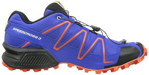 Salomon Speedcross 3, Scarpe sportive, Uomo Blu (Blau (Cobalt/Tomato  Red/Black))