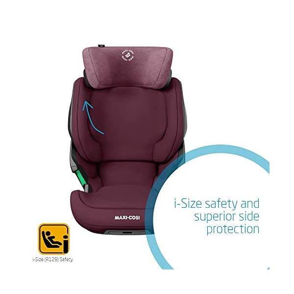 Maxi-Cosi Kore i-Size Child Car Seat, 3.5 - 12 years, 100 - 150 cm, Authentic Red Maxi-Cosi Child car seat, suitable to use from 3.5 to 12 years (approx from 100 cm to 150 cm) ISOFIX installation is possible with this group 2/3 car seat for optimal stability Quick and easy to buckle up: This ISOFIX car seat is designed to enable children to get in and out and buckle up on their own in a few seconds 5