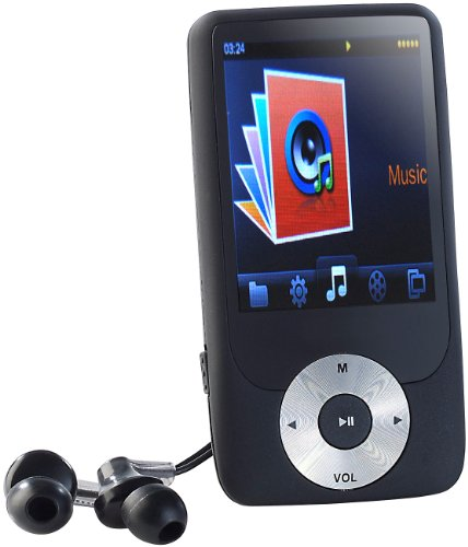 """auvisio Multimedia Player: DMP-361.fm MP3- und Video-Player/Recorder mit XXL-Display 2,4"""" (Videoplayer)"""