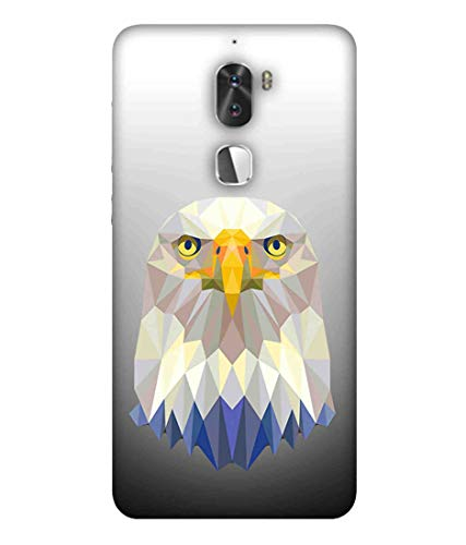 Printfidaa Low Poly Poster with Eagle Vector Illustration Silver Printed Designer Case for Coolpad Cool 1, Coolpad Cool1 Dual Back Cover