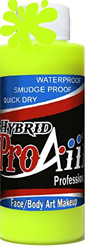 proaiir-waterproof-hybrid-face-and-body-art-paint-flourecent-yellow-21oz-60ml-bottle