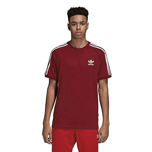 Adidas 3-stripes tee, t-shirt uomo, rosso (buruni), l