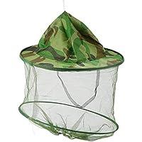 Sombrero de Camo de Gasa con Cuello elástico Mosquito Insecto Insectos Resistencia de la Abeja Sun Net Mesh Head Protector de la Cara Cap Hat Hombres Mujeres Pesca
