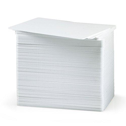 100Tarjetas plásticas PVC blancas laminadas. Ideales