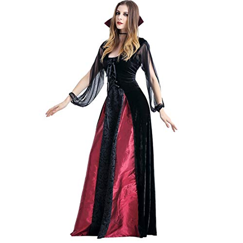 Damen Kostüm Halloween Party Ghost Festival Teufel Cosplay Vampir Langes Kleid Königin Kleid Outfit Erwachsenen Kostüm Dress Up Drama Kleid