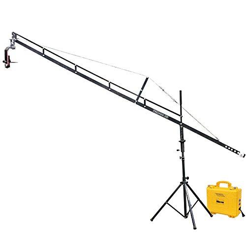 PROAIM 14ft Professioneller Jib Kranarm mit Stativ, Sr. Pan-Tilt Kopf und 12V Power Pack unterstützt alle DSLR Videokameras | Lanc Zoom Controller + Aufbewahrungsbeutel (P-14-JS-SRPP) - Kran Head Jib