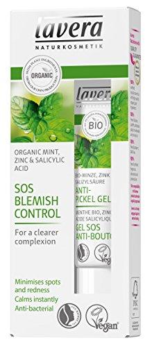 Controlador de manchas lavera SOS: Menta, Zinc y ácido salicílico. Minimiza las manchas y el enrojecimiento. Vegano. Cosméticos naturales. 15 ml