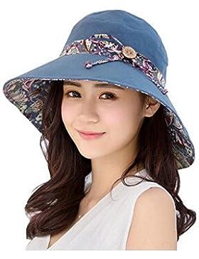 Cappello parasole da donna estate floreale secchio Cord spiaggia berretto reversibile a tesa larga spiaggia cappello...