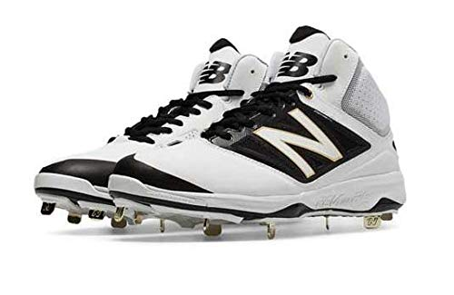 New Balance M4040WT3 Mid Baseball Shoes - White/Black - US 9,5
