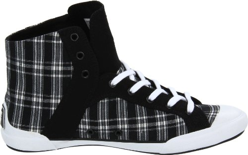 DC Shoes Chelsea Zero HI SE D0302659, Sneaker donna Nero (Schwarz/Black White Plaid)