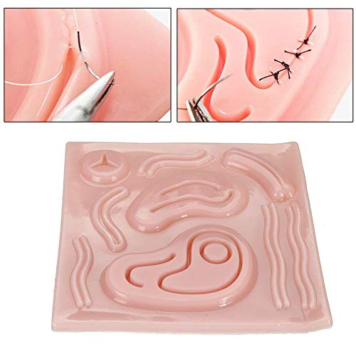 Chirurgisches Nahtset 3D Nahtpad mit Wunden für Ärzte Medizinstudenten Tierärzte und Krankenschwestern Langlebig und wiederverwendbar 6 x 6 Zoll