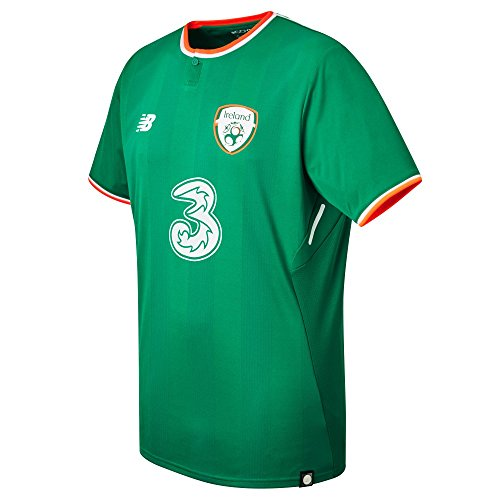 New Balance Herren Offical FAI Merchandise Ireland Home 2017/2018 Kurzarm-Trikot, Jolly Green, Large -