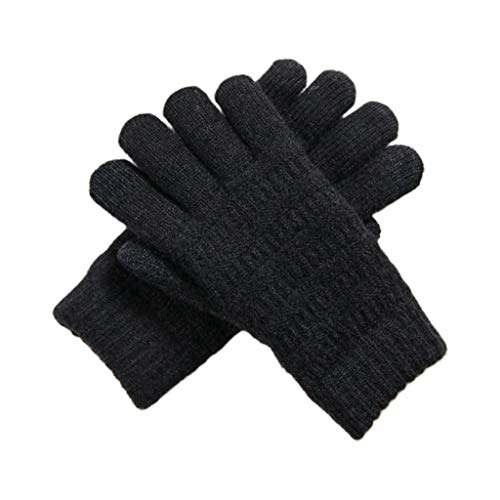 41y03NHUWhL. SS500  - Xiuinserty Gloves for Women Winter, Full Finger Gloves Touchscreen Thick Plush Lined Wrist Warmer Solid Color Stretchy Magic Mittens