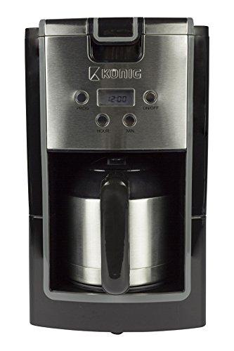 Eurosell Edelstahl Design Filter Kaffee Maschine Kaffeemaschine mit Thermoskanne Thermo Kanne...