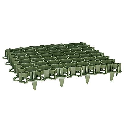 Rasengitter Rasengitterplatten Paddockplatte Platte Rasenwaben Rasenmatten grün 8 Stück (1,94m²)