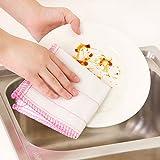 Aggiungere 8 strati di cotone per lavare i piatti, panno di pulizia, panno in fibra super fine, panno in tessuto non tessuto, non unge, perdita di lana, panni per la pulizia, 9 pezzi