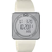 D&G DW0735 - Reloj Unisex movimiento de cuarzo con correa de caucho blanco