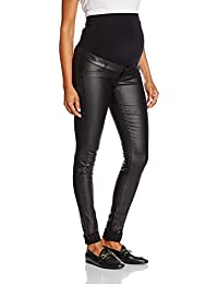 Mamalicious Women's Mlram Coated Slim Maternity Jeans