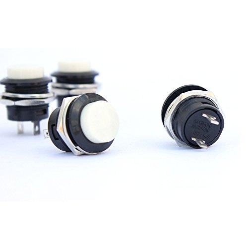 Ytian 5/x SPST interruptor a pulsador redondo a Bascule momentane AC 6/A//125/V 3/A//250/V