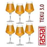Rastal - 6 Vasos por Universal Beer Tasting - modelo TEKU 3.0 - 42 cl. (14,8 oz.)