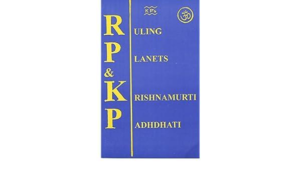 Amazon in: Buy Ruling Planets & Krishnamurti Paddhati - RPKP