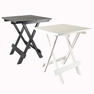 druline 2 farben 45 cm campingtisch beistelltisch weiss klappbar kunststoff klapptisch schwarz. Black Bedroom Furniture Sets. Home Design Ideas