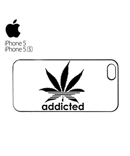 Addicted Cannabis Mobile Cell Phone Case Cover iPhone 5c Black Blanc