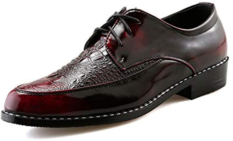 Men's Fashion Oxford Casual Personality con Stampa Coccodrillo Coccodrillo Coccodrillo Anteriore Stile Britannico Stringate Scarpe per...   Per tua scelta    Sig/Sig Ra Scarpa  5983af