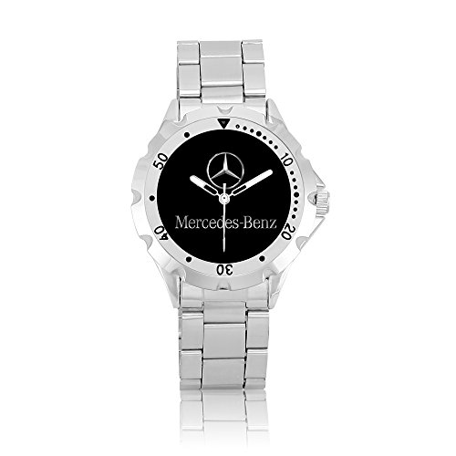 zoomeveryday-mercedes-benz-rotating-bezel-stainless-steel-wrist-watch-black