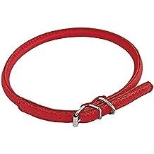 CHAPUIS SELLERIE SLA690 Collar ajustable redondo GLAMOUR para perro y gato - Cuero rojo - Diámetro 6 mm - Largo 20-25 cm - Talla XS