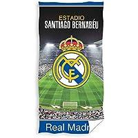 TEXTIL TARRAGO Toalla de Playa Real Madrid 70x140 cm 100% algodón con Licencia Oficial