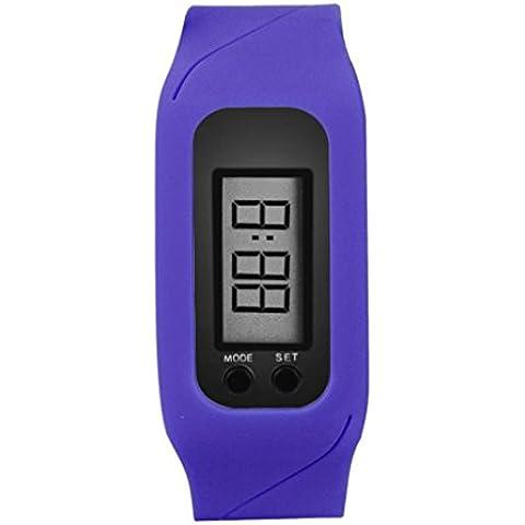 Vovotrade reloj podómetro digital LCD,Azul marino