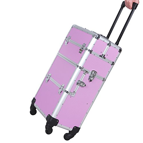 Songmics® trolley Beauty Case Nail Art Valigia professionale XXL rosa JHZ05P