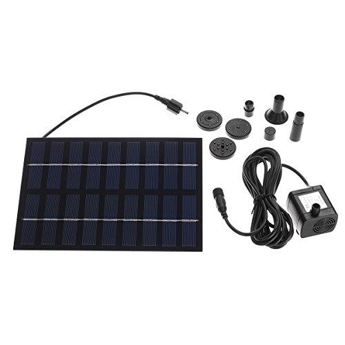 ILS - Solar Pumpe Solar Power Wasser Pumpe Panel Satz Springbrunnen Teich Pool Wasser Garten Tauch Wasser Pumpe