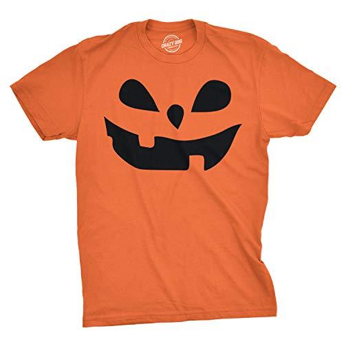 Mens Teardrop Eyes Pumpkin Face Funny Fall Halloween Spooky T Shirt (Orange) - 3XL - Herren - 3XL ()