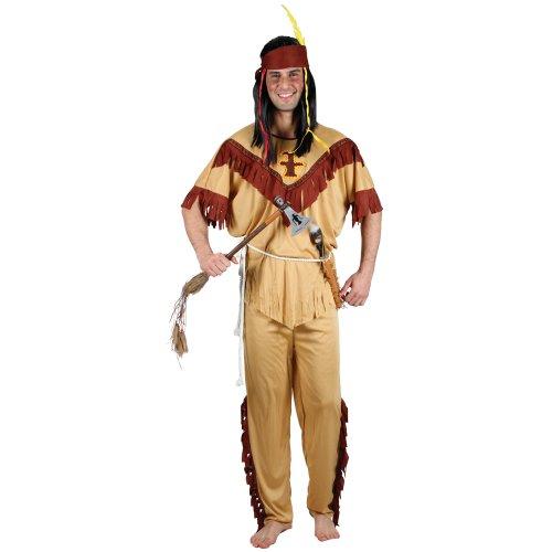Wilder Westen Roter Indianer Verkleidung für Männer Halloween Fasching Kostüm ()