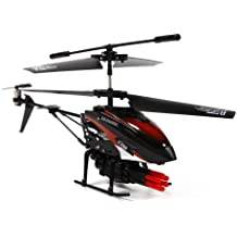 4Ch Metal Alloy Body RC Helicopter with Multi-missile Launcher and Built-in Gyro (Red or Green)