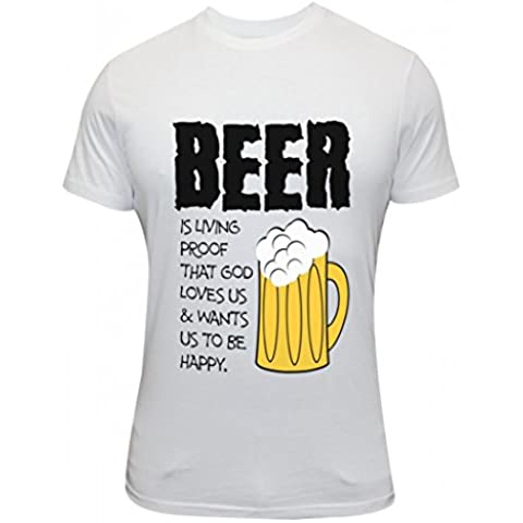 New Mens Beer Make Us Happy And Good Proof That Drinking Party Funny Exclusive Quality T-shirt for Men
