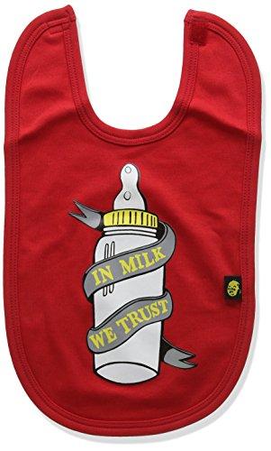 Rockabye-Originals in Milk We Trust Bib Foulard Tour De Cou, Red, Taille Unique Mixte bébé
