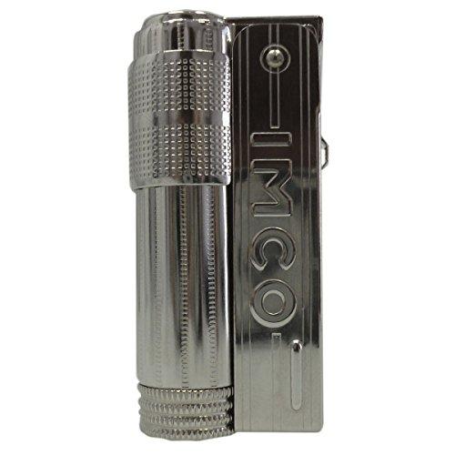 IMCO Super/Triplex Oil Schriftzug Benzinfeuerzeug, Chrome Nickel