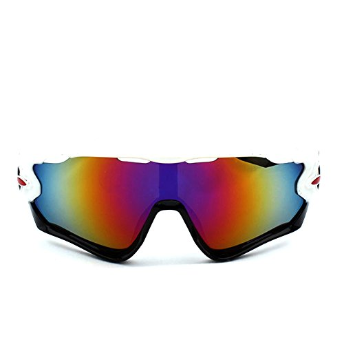 Lunettes de soleil Benbroo sport pour activités extérieures, White-Purple