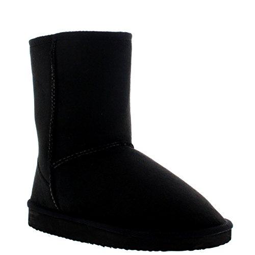 Damen Schuhe Classic Short Fell Schnee Regen Stiefel Winter Fur Boots - Schwarz - 41 - AEA_MIDI_BLACK