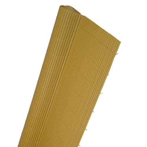 Videx aus Kunststoff Doppel Zäune copert. Raumteiler Farbe Havanna 200x 300cm EV