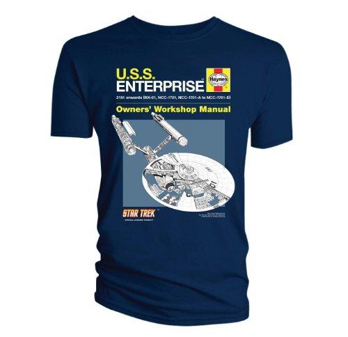 star-trek-haynes-manual-uss-enterprise-adult-t-shirt-blue-extra-large-xl-adult