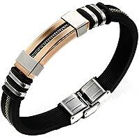 Preisvergleich für GDS Cool Man Titan Stahl vergoldet Armband Silikon