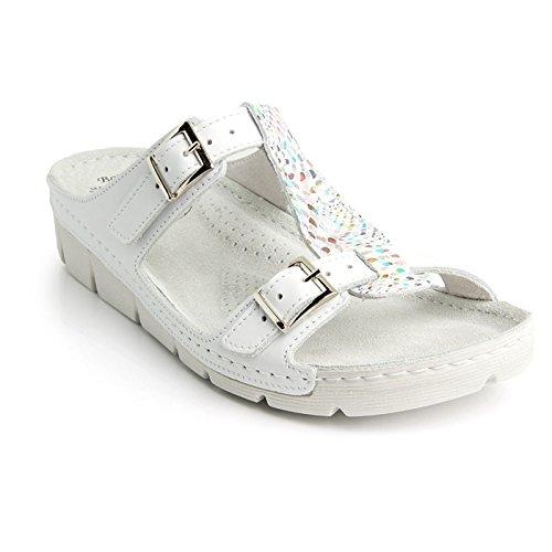 Batz Gaudi Léger et Flexible Sandales Sabots Mules Chaussons Chaussures de Qualité Supérieure en Cuir Femme