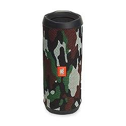 JBL Flip 4 Bluetooth-Lautsprecher Box (Wasserdichter, tragbarer Lautsprecher mit Freisprechfunktion und Sprachassistent, bis zu 12 Stunden Wireless Streaming mit einer Akku-Ladung) camouflage