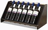 YLXBH Weinregal aus Holz, Stehcontainer-Ausstellungsständer, Aufbewahrungsregal für 6 Flaschen und 5 Weingläser, unabhängig und einfach zu montieren (Farbe: weiß)