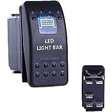 Barco del eje de balancín interruptor niebla interruptor de luz barra de luz LED (5p, ON-OFF) HX-501R - 5p Light Bar